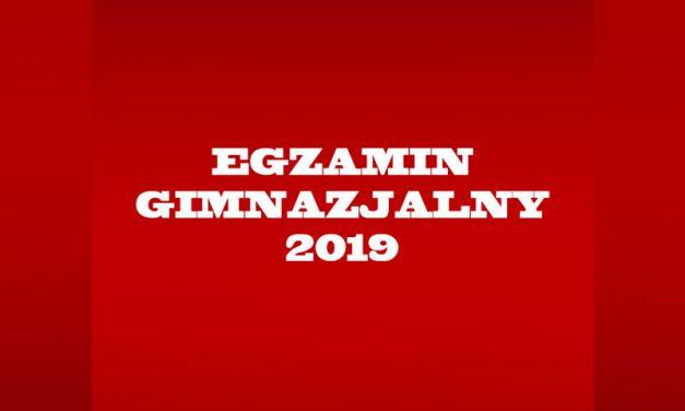 Egzamin gimnazjalny 2019
